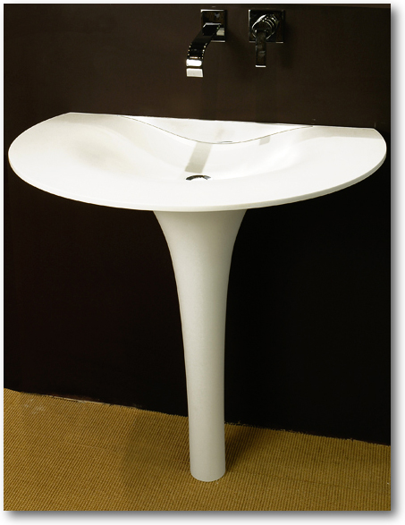 lavabo corian sur colonne crea diffusion sp cialiste corian. Black Bedroom Furniture Sets. Home Design Ideas